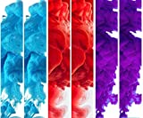 6-Pack Color Smoke Effect Photography Props for Photography Background, Parties, Sports - Most Popular Color Set of SIX (2 Red, 2 Blue, 2 Purple)