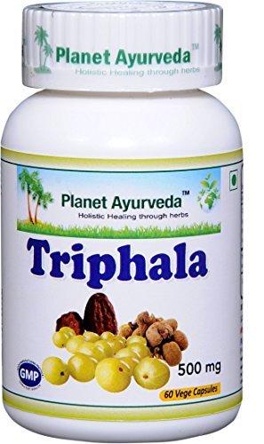 Triphala - 2 bottles (each 60 capsules, 500mg) - Ayurvedic Remedy by Planet Ayurveda (in USA)