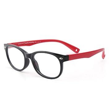 c827689329 Gafas de Silicona para niños Marco para anteojos Flexibles para niños con  Correa para anteojos para niños niñas - Púrpura y Amarillo (Color : Negro):  ...