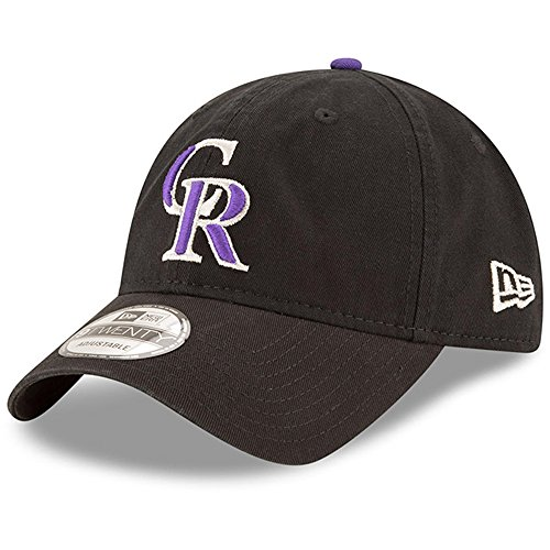 - Colorado Rockies New Era Game Replica Core Classic 9TWENTY Adjustable Hat Black