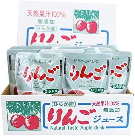 無添加 平鹿産りんごジュース 180g×10袋入