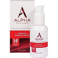 Alpha Skin Care Intensive Renewal Serum | Anti-Aging Formula | 14% Glycolic Alpha Hydroxy Acid (AHA) | Reduces the…