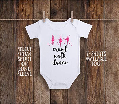 Crawl Walk Dance Baby Bodysuit For Ballerina Dancer, Ballet Slippers, Cheerleader or Drill Team - Ballet Jumper