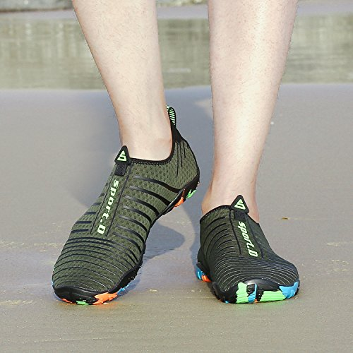 Rapide Pour Plage Chaussettes Kuuland Schage Chaussures Yoga Aqua ball Surf Peau Water Green01 Barefoot Le Volley De Plonge Piscine Unisexe qBwYYXR74