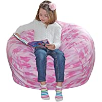 Ahh! Products Pink Camouflage Anti-Pill Fleece Washable Large Bean Bag Chair