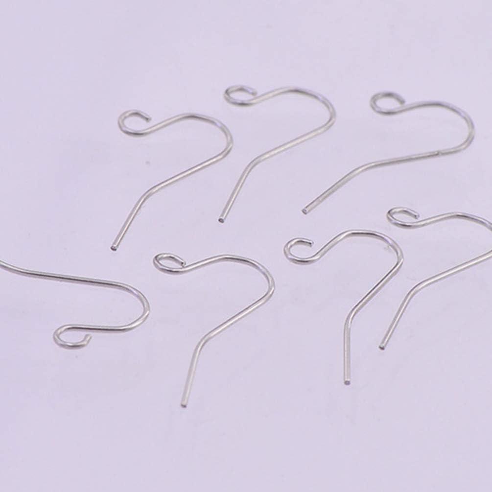 Silver, 0.5mm, Wire Ear Hook HEALLILY 100Pcs Wire Earring Hooks DIY Earrings Parts Earrings Making Accessories for Jewelry Findings Parts DIY Making