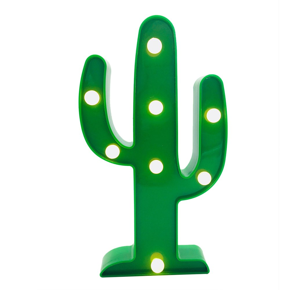Ansley&Hosho Cute Bedroom Lamp for Night Sleeping Beside Night Light for Desk Table for Kids Room for Boys Girls for Birthday Gift Party Home Decoration for Birthday (Cactus)