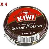 Kiwi - Pack De 4 Boites De 50Ml De Cirage Brun Foncé Kiwi