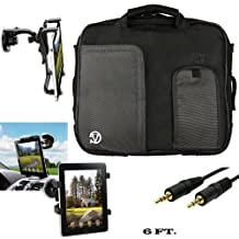 """Pindar Lightweight Carrying Shoulder Bag For Microsoft Surface Pro 3 / Pro 4 Windows 8.1 Pro 12"""" Tablet + Auxiliary + Windshield Car Mount"""