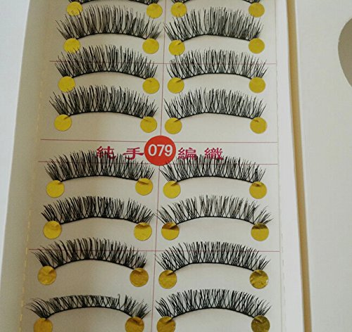 New 10 Pair Handmade Natural Soft Long False Eyelashes Fake Eye Lash P33