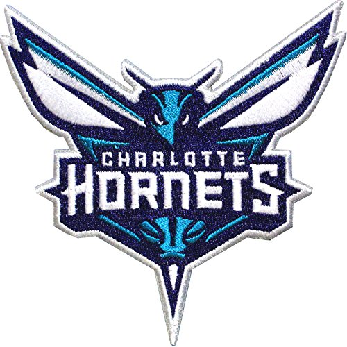 Official Charlotte Hornets Logo Large Sticker Iron On NBA Basketball Patch Emblem by Patch Collection