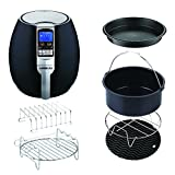 GoWISE USA 3.7-Quart Programmable 8-in-1 Air Fryer with 6-PC Accessory Set + 50 Recipes for your Air Fryer