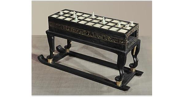 Diseño de un juego de mesa de senet, en ébano y marfil, dragón del faraón de la: Amazon.es: Hogar