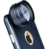 Apexel Professional 60mm Portrait Lens HD Camera Phone Lens for iPhone 6/6s Plus (Perfect for Street Portraits, Adventure Photos and Travel-No Distortion)