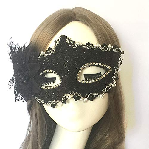 Halloween Mask Half Face Masquerade Butterfly Mask Lace Dating Girl Performing Child Mask 7 -