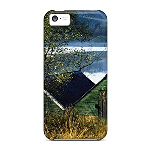Hot Boat Houses In Aberfoyle Lake Scotl First Grade Tpu Phone Case For Iphone 5c Case Cover