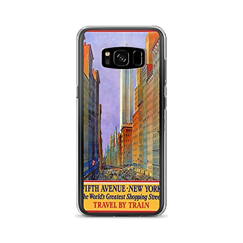 Vintage poster - Fifth Avenue 0499 - Samsung Galaxy S8 Phone - Avenue 5th Nyc Shopping