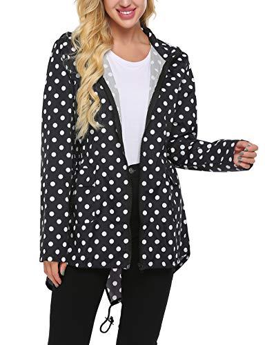 Beyove Women's Rain Jacket Waterproof Hooded Lightweight Active Outdoor Raincoats