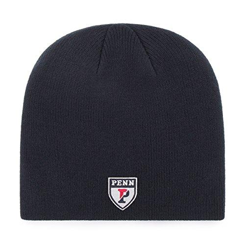 OTS NCAA Pennsylvania Quakers Beanie Knit Cap, Navy, One Size