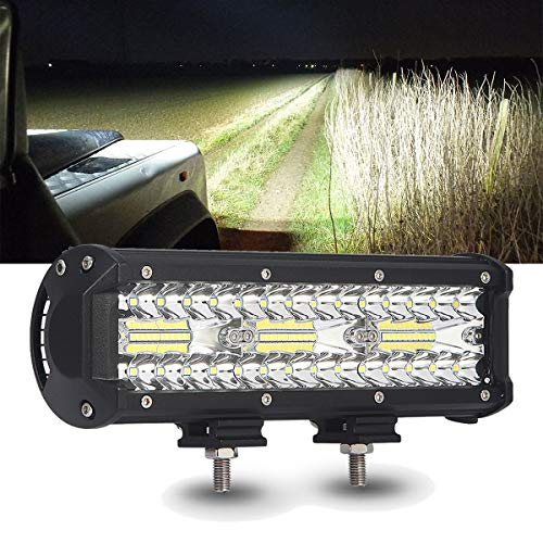 SAMLIGHT Led Light Bar, Waterproof 9 Inch 60 PCS LED Triple Row Fog LED Bumper Flood Spot Combo 18000LM Led Off Road Driving Lights for UTV ATV Jeep Truck Boat Marine