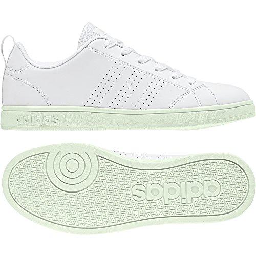 adidas Damen Vs Advantage CL W Fitnessschuhe Elfenbein (Ftwr White/ftwr White/aero Green S18 Ftwr White/ftwr White/aero Green S18)