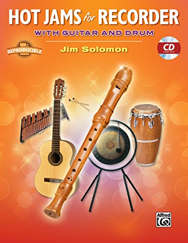 Red Hot Recorder - Hot Jams for Recorder: With Guitar and Drum, Book & CD