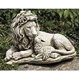 Roman 20' Joseph's Studio Lion and Lamb Outdoor Garden Statue