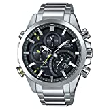 Casio Men's Edifice Solar Connected Quartz Watch with Stainless-Steel Strap, Silver, 14 (Model: EQB-501D-1ACF)