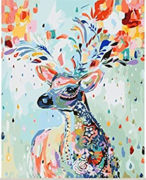 9 Lives with you 16X20 Inch YXQSED Framless DIY Oil Painting Paint by Number Kit for Adults Kids