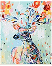 [Framless]Diy Oil Painting Paint By Number Kit- Painted Deer 16 * 20 inch