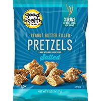 Good Health Peanut Butter Pretzels, Salted, 5.5 Ounce Bags (Pack of 12)
