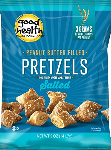 Good Health Peanut Butter Pretzels, Salted, 5.5 Ounce Bags (Pack of (Peanut Butter Pretzel)
