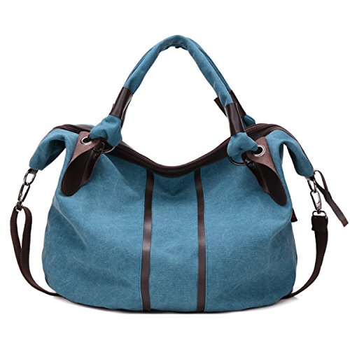 Uomini Vintage Canvas Spalla Cartella Messaggero Tote Satchel Affari Borsa Marrone Scuro,C-47cm*20cm*41cm