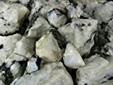 Fantasia Materials: 1 lb Rainbow Moonstone Mine Run Rough - Raw Natural Crystals for Cabbing, Cutting, Lapidary, Tumbling, Polishing, Wire Wrapping, Wicca and Reiki Crystal HealingWholesale Lot