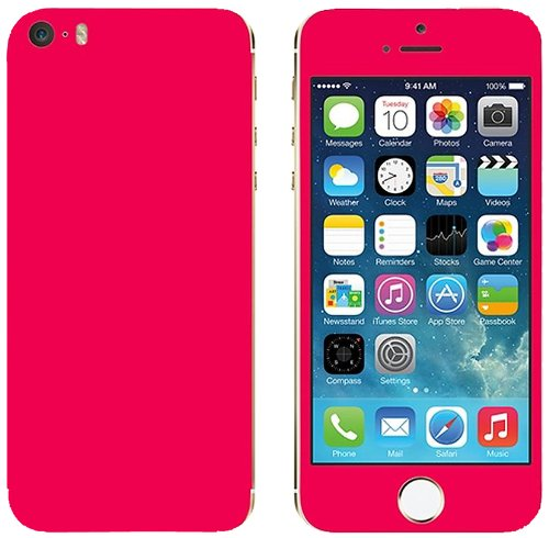 Slickwraps Color Collection Protective Film for iPhone 5s - Pink - Skin - Retail Packaging - Pink