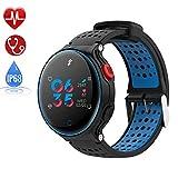 IP68 Smartwatch a Prueba de Agua Modo Multi-Deporte Pulsera Inteligente Versus monitoreo de la frecuencia cardíaca Relojes Deportivos Plataforma aplicable Plataforma iOS Android,Blue
