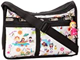 LeSportsac Deluxe Everyday Charm Satchel,Around The World,One Size, Bags Central