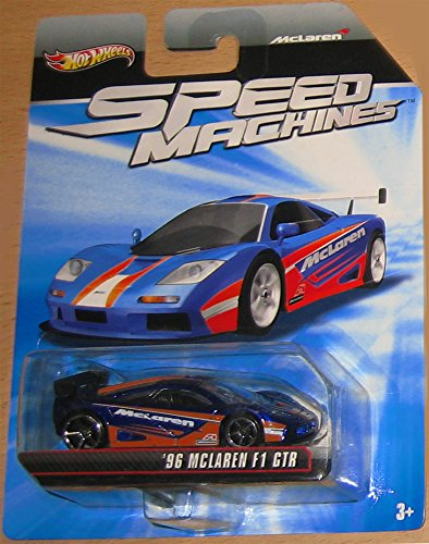 McLaren F1 GTR Hot Wheels Speed Machines Series Purple/Orange '96 Mclaren F1 GTR 1:64 Scale Collectible Die Cast Metal Toy Car Model