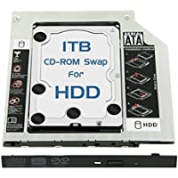 Skywin 1TB HDD Laptop Optical Bay SWAP for Hard Drive - Replaces the CD-ROM or DVD-ROM of machine with 9.5mm drive bay. High Capacity and Performance SATA Drive Upgrade kit for Notebook