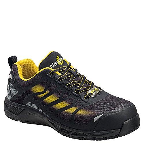 Nautilus Men's Comp Toe ADV Athletic Sneakers, Black Mesh, Rubber, 14 ()