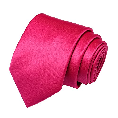 Pure Classic Ties Formal pink Polyester Solid Party Neck Neckties Satin for 10 Wedding Colors Color Men Work in 22 Plain 0w6qAd