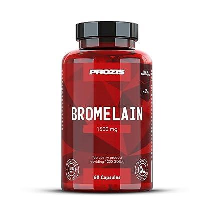 Prozis Bromelain - 60 Cápsulas: Amazon.es: Salud y cuidado ...