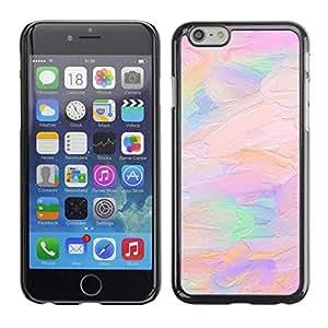 TopCaseStore / la caja del caucho duro de la cubierta de protección de la piel - Pink Peach Purple Artist Art - Apple iPhone 6 Plus 5.5