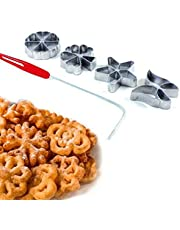 rukauf Traditionele deegvorm - Hworost, wafelijzer, wafelbakkerij Spreewalslijpen set 4 stuks