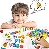pereberi See and Spell Learning Toys Matching Letter Spelling Game Sight Words Games Montessori Preschool Educational…