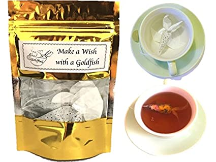Gift Idea For Tea Lover 3 Goldfish Bags CEYLON BLACK HERBAL Creative Birthday