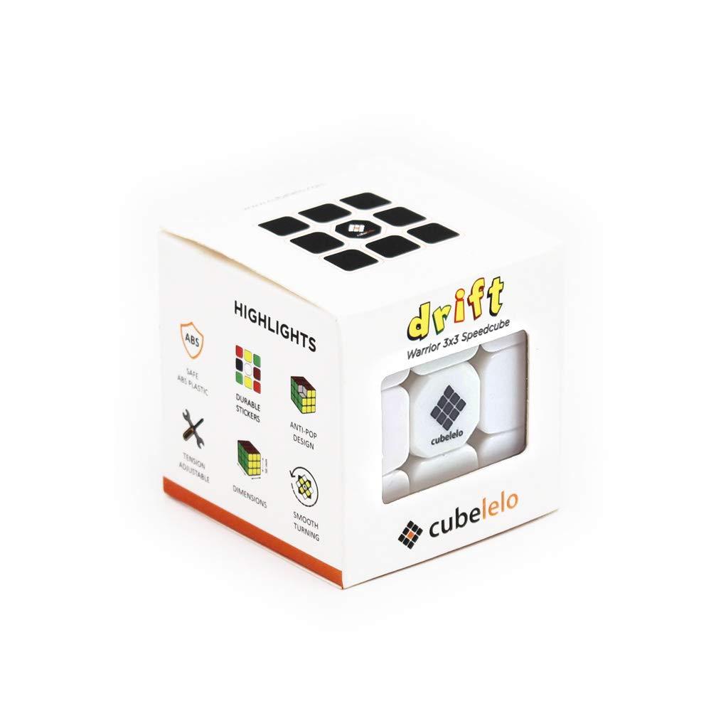 CubeleloDriftWarrior3x3StickerlessMagicCubePuzzle