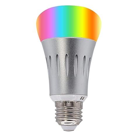 Smart Wifi bombilla LED, Bobel bombilla LED RGB multicolor luz nocturna bombillas controlado por smartphone