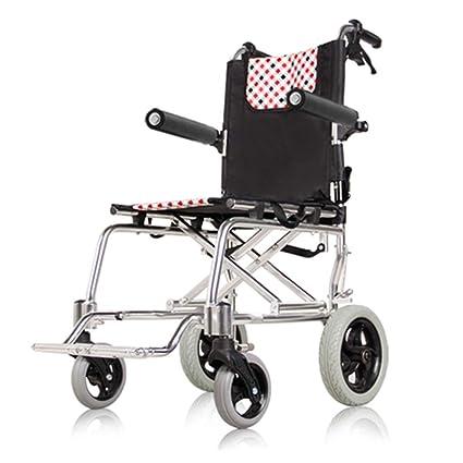 Silla de ruedas Rampas Ultraligera De Aleación De Aluminio Pequeña Trolley para Personas Mayores Viaje Plegable