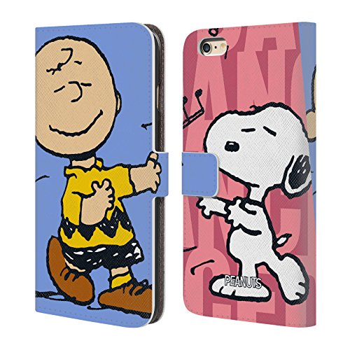 (Official Peanuts Snoopy & Charlie Halfs and Laughs Leather Book Wallet Case Cover for iPhone 6 Plus/iPhone 6s Plus)